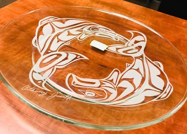 Large Glass Serving Platter. Value: $80.00