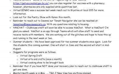 Members Meeting Minutes – April 26th 2021